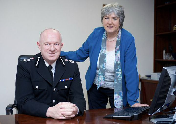 Merseyside Police's Chief Constable Andy Cooke QPM and Merseyside's Police Commissioner Jane Kennedy.