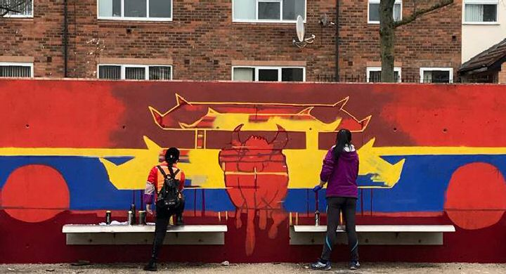 A brand new mural which celebrates Liverpool's Chinese community is taking pride of place in the City Centre.