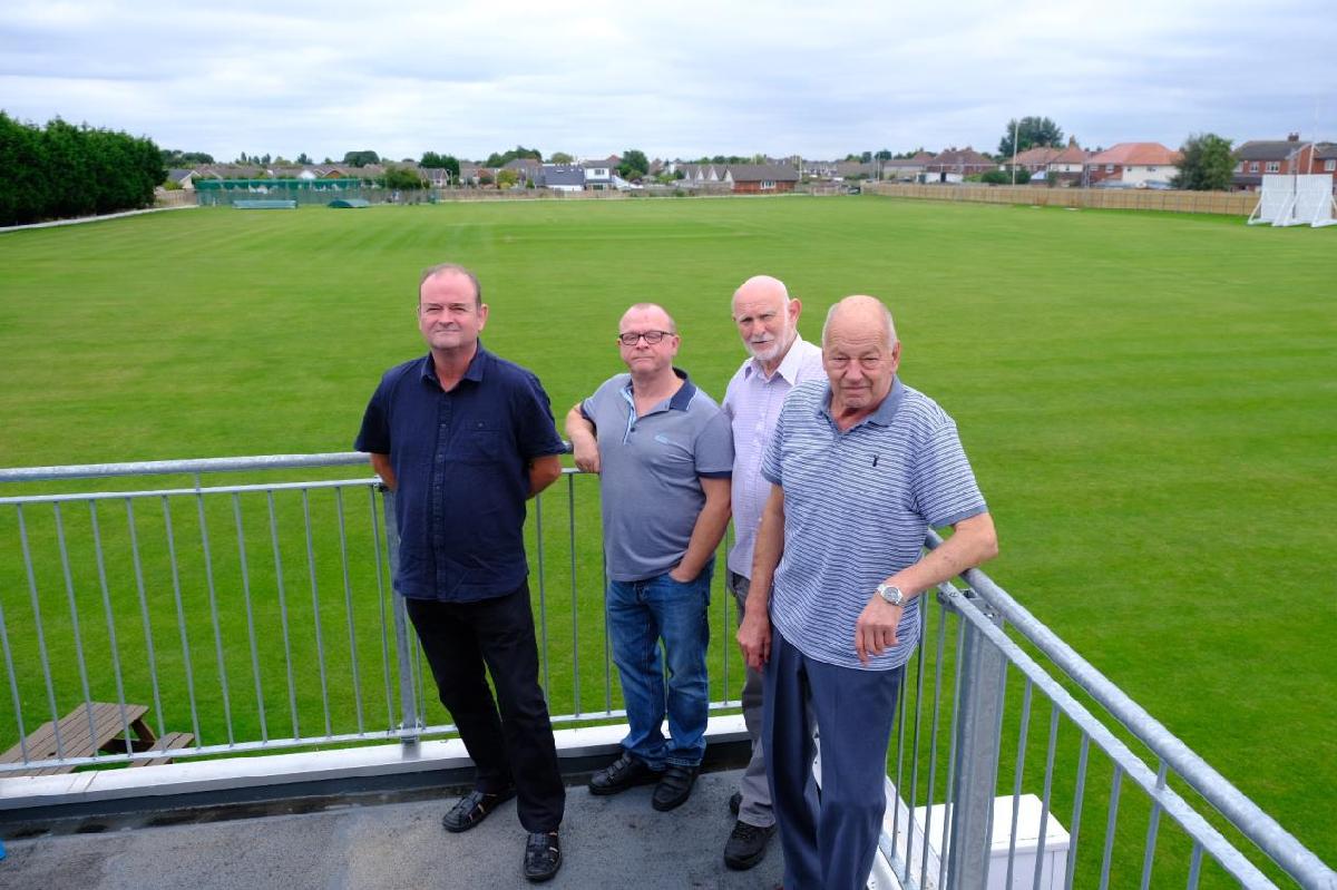 (LEFT TO RIGHT) Cllr Ian Moncur, Club Manager Steve Dobbin, Secretary Glyn Lloyd and Club Chairman Bobby Addison.