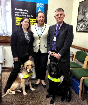 Anne Marie Trevelyan MP, Conservative, who sponsored the bill with Guide Dogs volunteers