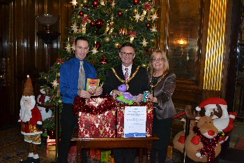 (Photograph shows, Liverpool�s Lord Mayor, Tony Concepcion and Mayoress Ann Concepcion and a representative from Carrington�s)