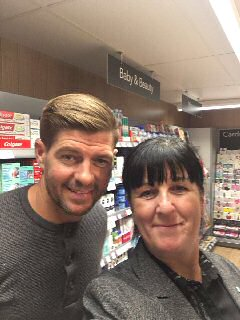 Launch of new Co-op store in Formby made extra special for Helen Horsley, store manager, who ?scored ? a selfie with Liverpool legend Steven Gerard who had popped into his new local Co-op. . . .