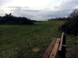 Pictured: Special Places bench funded by the Wirral West Constituency Committee overlooking the Dee at Cubbins Green, West Kirby.