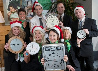Yorkshire Building Society colleagues ask the public to give the gift of time for Marie Curie this Christmas
