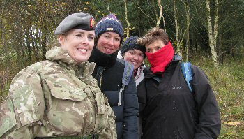 Kath Higgins, head of nursing and Army Reserves major, with hospital colleagues.