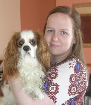 Lauren with dog Milo.