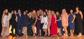 Staff from Ward 15A celebrating winning the Excellence in Patient Experience Award