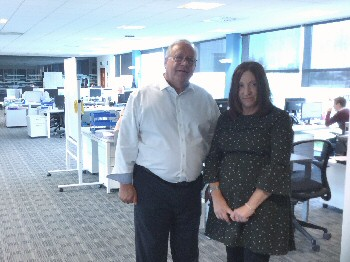 Janette Williamson with Russell Taylor Group boss Peter Russell