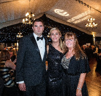Patient Hannah Martin with husband Lee and mum Christine Dunne.