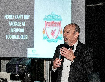 Liverpool FC Chief Executive Peter Moore auctions an exclusive VIP day at Anfield