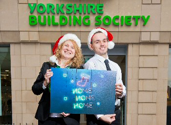 Yorkshire Building Society colleagues are supporting homeless young people into homes of their own this Christmas (L-R Michelle Wright & Adam Waterfall)
