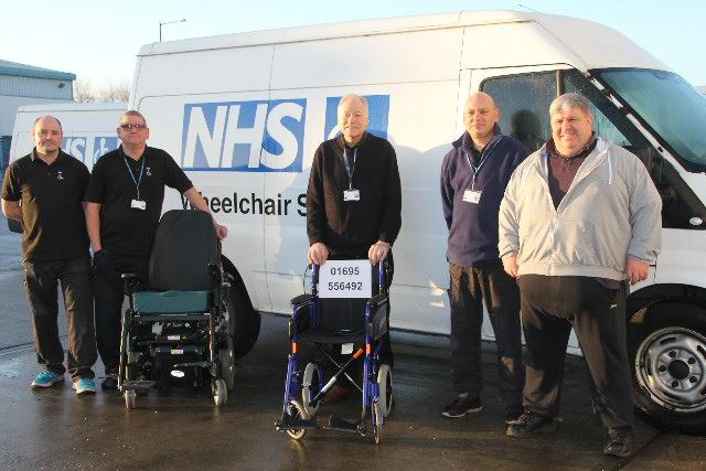 Picture of a NHS Wheelchair worth 250k