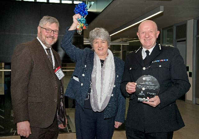Paul Heald Morgan Sindall senior contracts manager, Jane Kennedy Merseyside Police & Crime Commissioner, Andrew Cooke Chief Constable