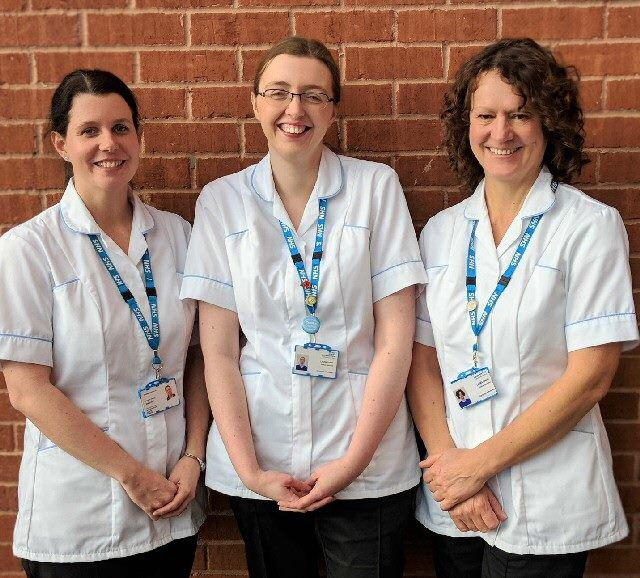 Lisa Rowe (Diabetes Specialist), Laura Chatt (Diabetes Specialist) and Lucy Haworth (Dietetic & Diabetes Education Team Lead)