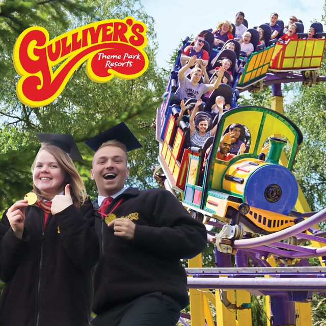 Jenna Hughes and Chris Cook, existing managers at Gulliver's - 2015 Graduates