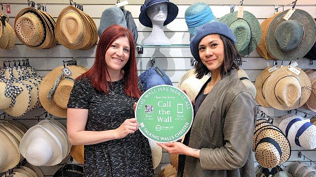 Emily Ghazarian (L) and Sherry Edwards (R) from The Hat Place...