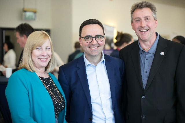 Jane Hatton, Director of Evenbreak, with Michael Pantlin, Director of People at Barts Health, and Paul Deemer, Head of Diversity & Inclusion at NHS Employers.