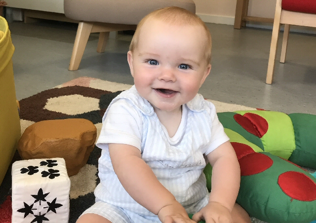 Harry is 1 of the babies that attended a parent and infant event during Infant Mental Health Awareness Week, 11 June to 15 June 2018.