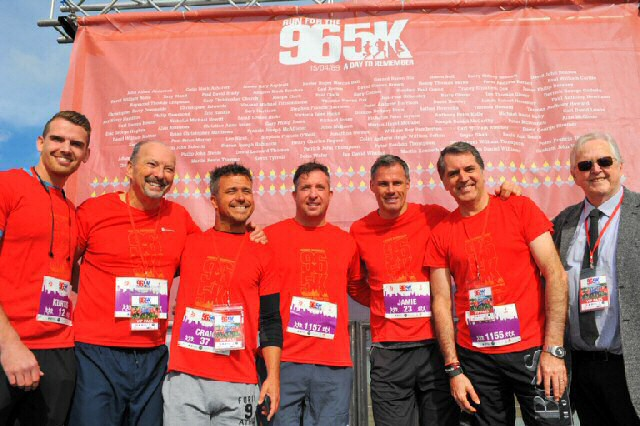 Run For The 96 has the support of the Hillsborough Family Support Group (HFSG).   RFT96 2018 Kurtis, Peter, Craig, Robbie, Jamie, Steve, George.