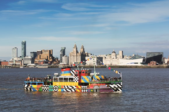Photo - Liverbuildings with the Mersey Ferry that is set to continue to 'dazzle' into the future as special design is extended...