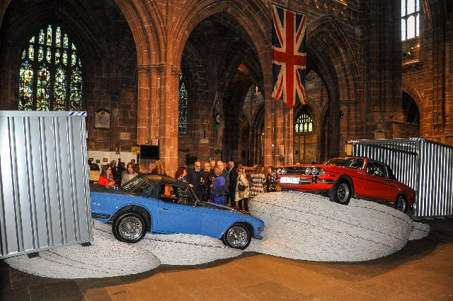 Renowned artist David Mach has created a brand-new art installation at Chester Cathedral.