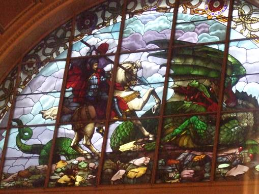 Wonderful window - Visitors will be able to stand next to the beautiful stained glass window in the Great Hall