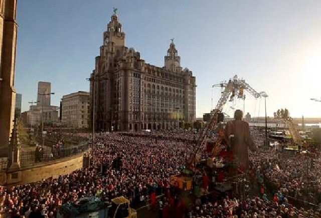 Last October's Giant spectacular attracted 1.3million visitors to Liverpool City Region