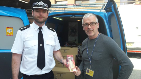 Liverpool City Centre Inspector Geoff Stewart (left) and Russell Ainslie, Outreach Manager for the Whitechapel Centre.