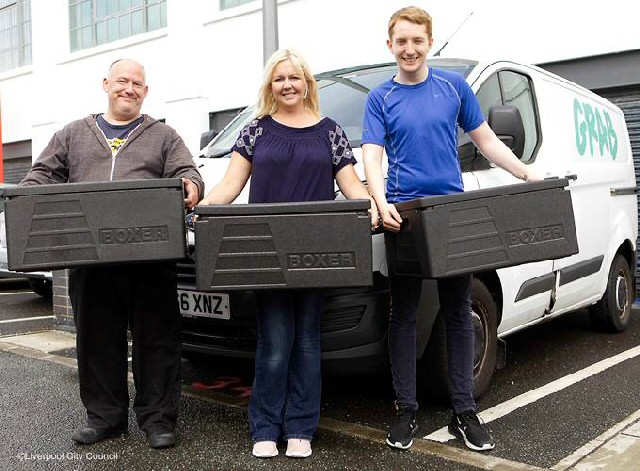 Food for thought: Karl Sheeran, Laura Hankey and Leigh Sheridan from Can Cook get ready to deliver meals to Liverpool children during the summer break.