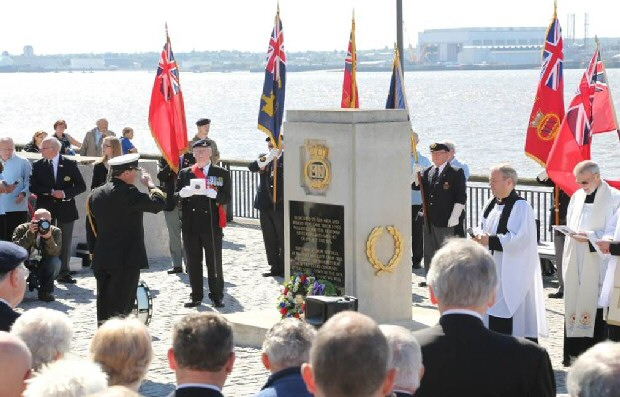 Remembering:- A previous Merchant Navy Day wreath laying in Liverpool