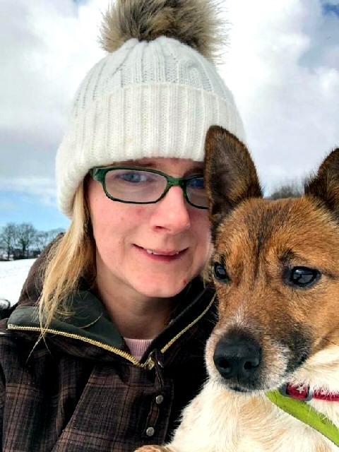 Pawz in Need founder Vikki Thomas with her dog Lola.