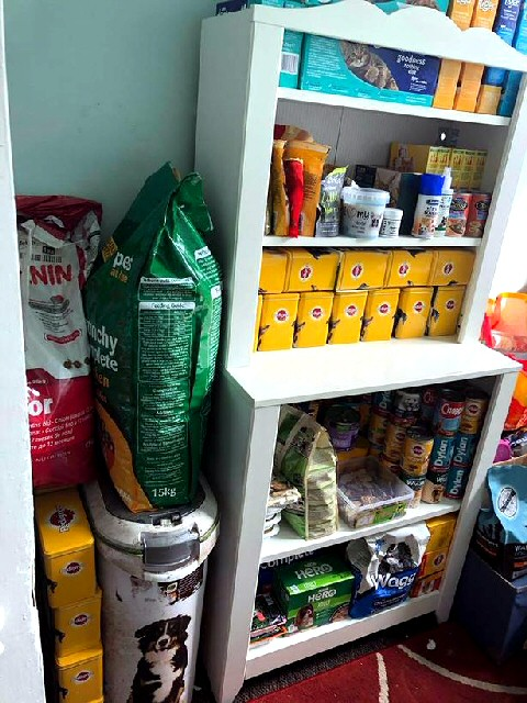 Some of the food in the food bank.