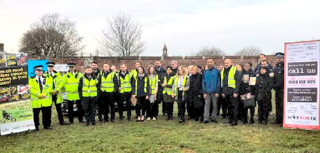 The Landlord Licensing team with partners from Merseyside Police and Mersey Fire and Rescue Service during a day of action in the City.