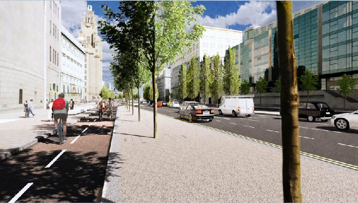 New look - How The Strand in Liverpool City Centre will look by Spring 2021 after a ₤22m upgrade...