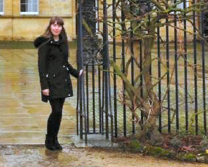 Oxbridge dream:  Alice Hardaker at Trinity College